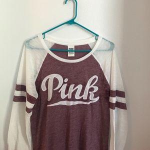 Pink Victoria Secret's long sleeve shirt